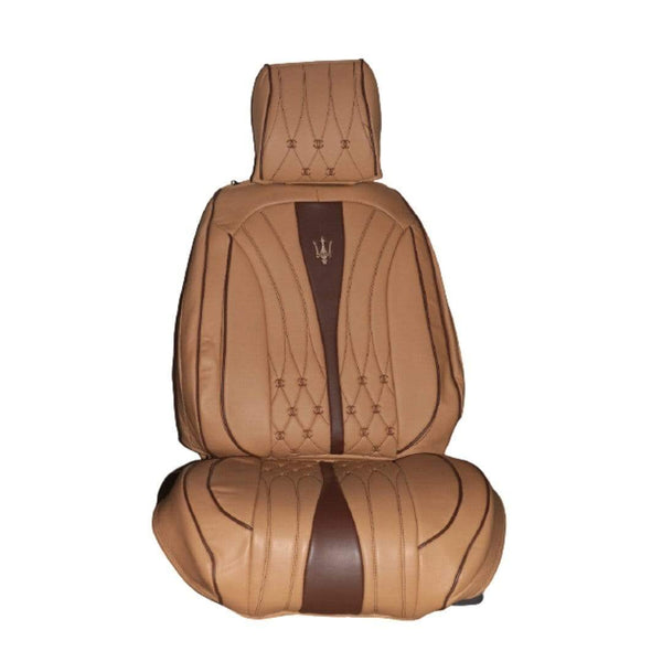 Nofeka Automobile Car Seat Cover for Harrier Kawundo and More, Light Brown