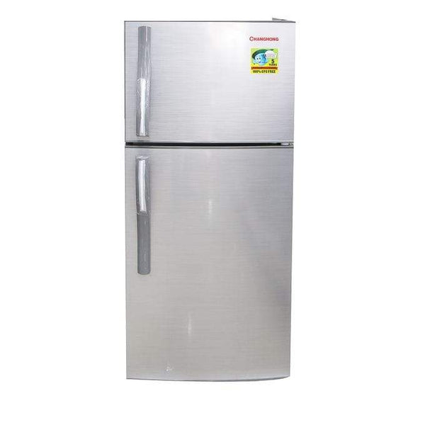 Nofeka Uganda Appliances Changhong CD-155 -Top Freezer Double Door Refrigerator - 155L - Silver