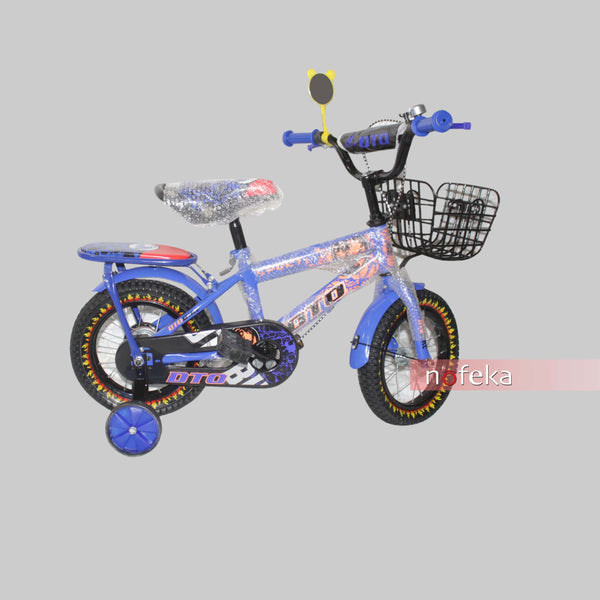 Nofeka Uganda Bicycles DTO Blue Boys Bicycle for Kids - Ages 2  to 5 Years - 12-inch Wheels