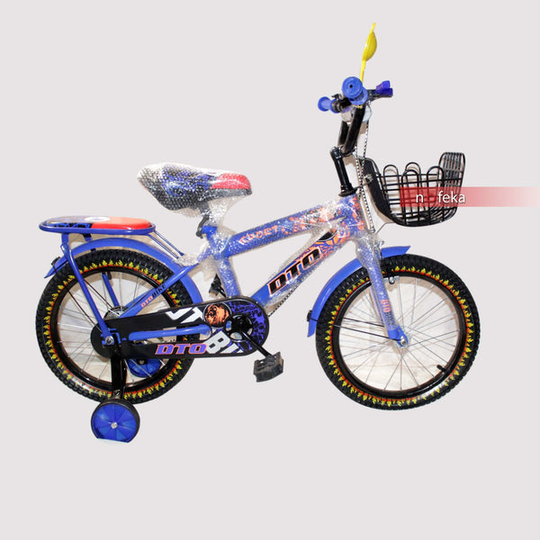 Nofeka Uganda Bicycles DTO Blue Boys Bicycle for Kids - Ages 5  to 8 Years - 16-inch Wheels