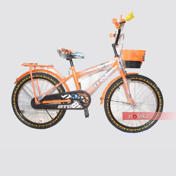 Nofeka Uganda Bicycles DTO Orange Boys Bicycle for Kids - Ages 8 - 13 Years - 20-inch Wheels