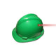 Green Snap Lock Suspension Hard Helmet