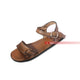 Handmade Brown Genuine Leather Flat Sandals