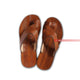 Handmade Strapped Men's Leather Flat Sandals