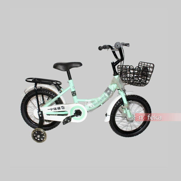 Nofeka Uganda Bicycles Kanuoxiong Light green Second-Hand Bicycle for Kids | 12-inch Wheels