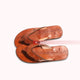 Men's Brown Genuine Leather Flip Flop Craft Sandals