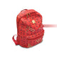 Mom Red  Zipper Diamond Rhinestone School Backpack Bag