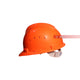 Orange Snap Lock Suspension Hard Helmet
