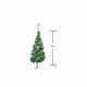 Pine Christmas Tree 120cm - Gold + Decorations