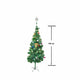 Pine Christmas Tree 150cm - Gold + Decorations