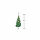 Pine Christmas Tree 90cm - Gold + Decorations