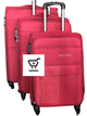 Pink Clothed Suit Cases