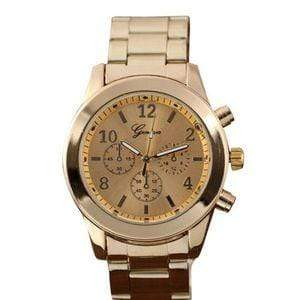 Nofeka Refined Fashion Geneva Ladies Watch - Gold