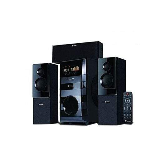 Nofeka Home Theatre Sayona 3.1 X-Bass Sound Plus- Bluetooth Remote Control Sub-Woofer Speakers - Black