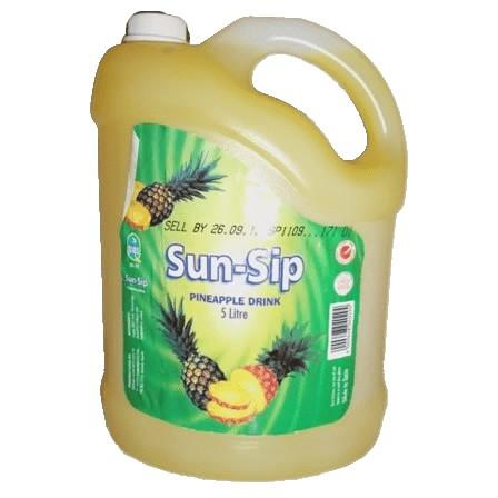 Nofeka Beverages Sun-sip Pineapple 5ltr
