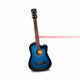 SY Audio 38c 6 Strings Blue Cutaway Acoustic Guitar