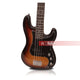 SY Audio Brown 4 String Solid-Body Electric Bass Guitar