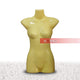 Yellow Female Torso Half Body Plastic Mannequin