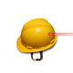 Yellow Snap Lock Suspension Hard Helmet