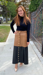 Load image into Gallery viewer, Leather LYNE Skirt