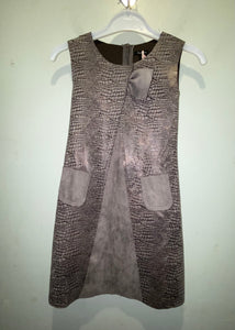 Grey Suede Dress