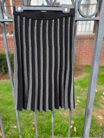 Load image into Gallery viewer, Silver Striped Knit Skirt