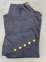 Load image into Gallery viewer, The Basic Knit Mock Neck with Button Detail