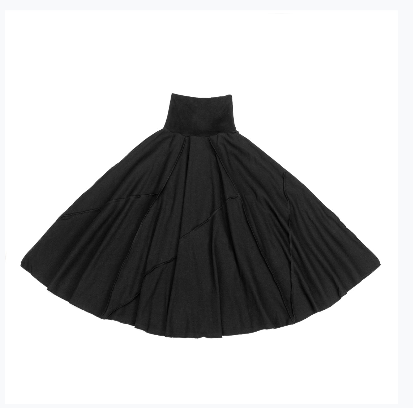 Flairy stich detail skirt