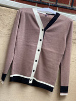 Load image into Gallery viewer, Mocha Colorblock Cardigan