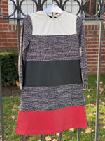 Load image into Gallery viewer, Tweed Leather Colored Dress