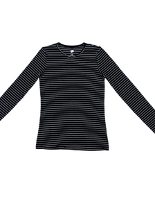 Riff Striped V-Neck Tee