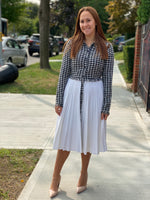 Load image into Gallery viewer, Tweed Pleated Dress