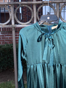 Teen Neuf Teal Tiered Dres