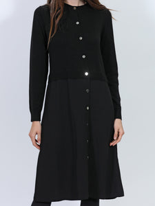 Button Up Knit Lea Dress