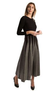 Load image into Gallery viewer, B & W Maxi A-Line Skirt