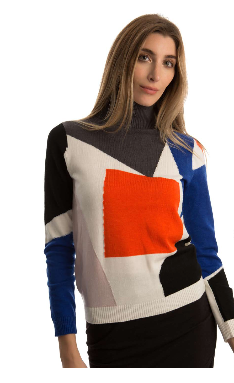 Multicolor Square Sweater