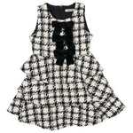 Load image into Gallery viewer, Houndstooth Ruffle Bow Dress