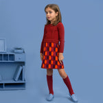 Load image into Gallery viewer, Plaid Knit Skirt Jumper
