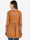Myshka Women's Brown Cotton Printed Full Sleeve V Neck Casual Shrug