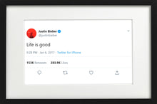 "Load image into Gallery viewer, Justin Bieber - ""Life is Good"""