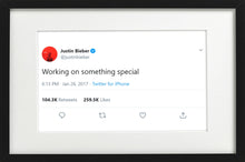 "Load image into Gallery viewer, Justin Bieber - ""Something Special"""