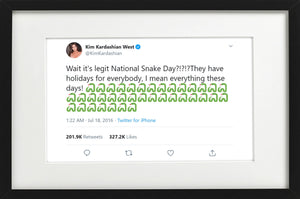 "Kim Kardashian - ""National Snake Day"""