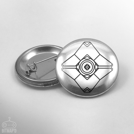 Destiny Ghost Button Pin
