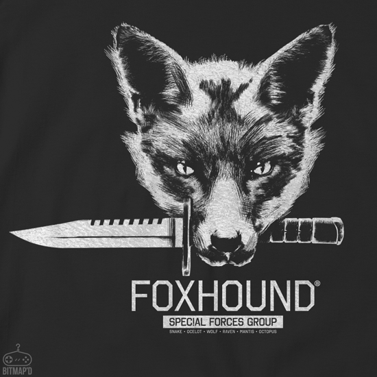 METAL GEAR SOLID FOXHOUND TSHIRT BLACK