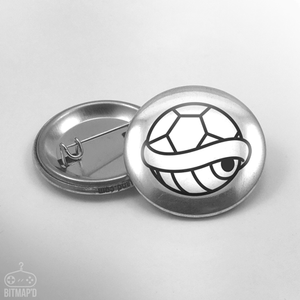 Super Mario Bros Shell Button Pin