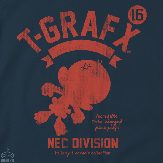Turbo Grafx 16 T-shirt Navy