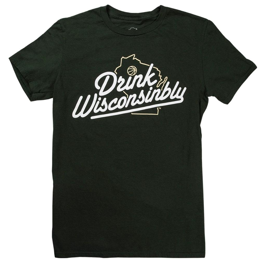 Drink Wisconsinbly Milwaukee Hoops T-Shirt