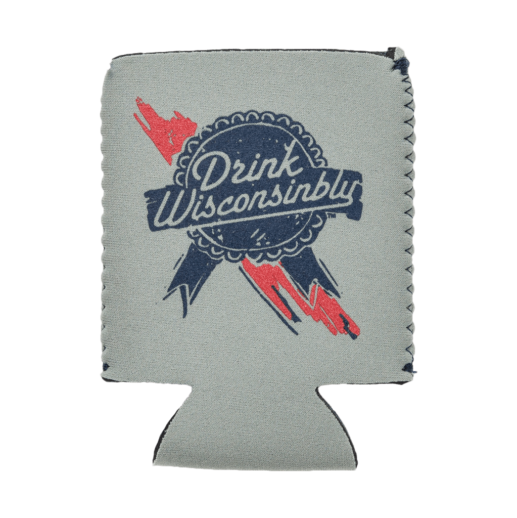 Drink Wisconsinbly Retro Ribbon Coozie