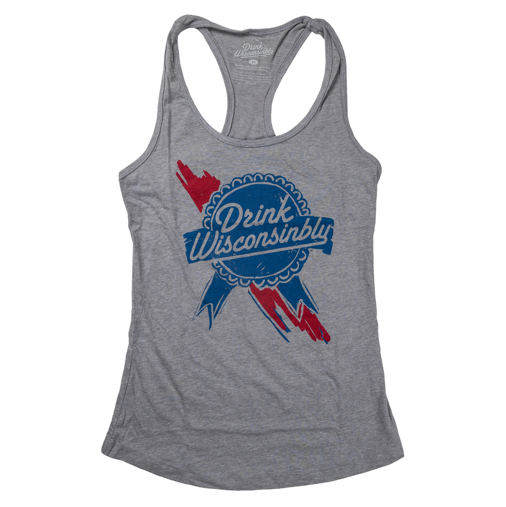 Drink Wisconsinbly Retro Ribbon Women's Tank Top