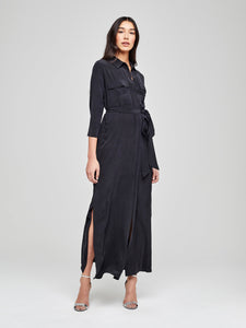 Cameron Long Shirt Dress Black